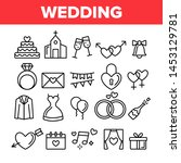 wedding and engaging vector... | Shutterstock .eps vector #1453129781