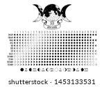 moon calendar  2020 year  lunar ... | Shutterstock .eps vector #1453133531