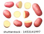 Raw Red Potato With Slices...
