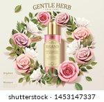 gentle herb toner ads with... | Shutterstock .eps vector #1453147337