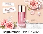 pink toner ads on marble stone... | Shutterstock .eps vector #1453147364