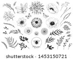 big hand drawn collection of...   Shutterstock .eps vector #1453150721