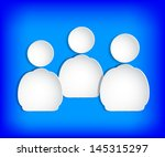 the human figures on paper.... | Shutterstock .eps vector #145315297