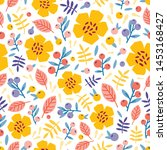 summer seamless pattern with...   Shutterstock .eps vector #1453168427