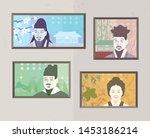 the greats of korean money.... | Shutterstock .eps vector #1453186214