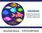 vector colorful cartoon fish in ...   Shutterstock .eps vector #1453189364