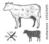 agriculture,american,animal,barbecue,beef,beef-cuts,bottom,brisket,bull,butcher,butchery,cattle,chart,chuck,cook