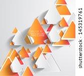 abstract 3d paper infographics | Shutterstock .eps vector #145319761