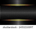 abstract black metallic circle... | Shutterstock .eps vector #1453210397