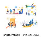 set of people cooperating for...   Shutterstock .eps vector #1453213061