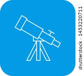telescope icon for your project  | Shutterstock .eps vector #1453220711