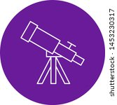 telescope icon for your project  | Shutterstock .eps vector #1453230317
