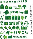 collection of green icons for... | Shutterstock . vector #14532373