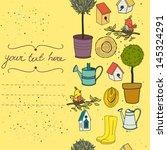 garden seamless pattern with... | Shutterstock .eps vector #145324291