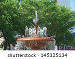 fountain and pigeons | Shutterstock . vector #145325134