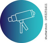 telescope on stand icon for... | Shutterstock .eps vector #1453251611