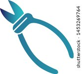 sharp pliers icon for your... | Shutterstock .eps vector #1453269764