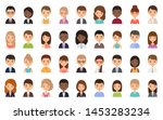 people faces. avatar character... | Shutterstock .eps vector #1453283234