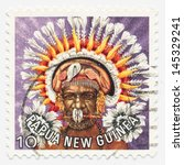 papua   new guinea   circa 1978 ... | Shutterstock . vector #145329241