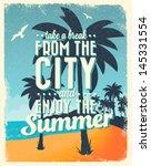 Retro Vintage Summer Poster...