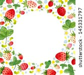 watercolor frame template with... | Shutterstock . vector #145331797