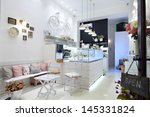 Stock photo modern and simple cafe interior 145331824