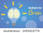 how bright is your brain.... | Shutterstock .eps vector #1453322774