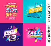 set of summer party ad... | Shutterstock .eps vector #1453324067