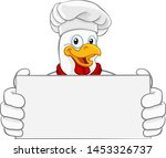 a chef chicken rooster cockerel ... | Shutterstock .eps vector #1453326737