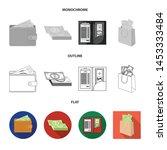 vector design of cash and... | Shutterstock .eps vector #1453333484