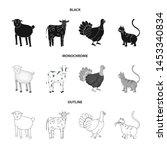 vector design of breeding and... | Shutterstock .eps vector #1453340834