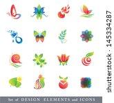 set of design elements.... | Shutterstock . vector #145334287