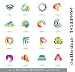 abstract design elements ....   Shutterstock . vector #145334494