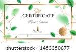 gift certificate vector... | Shutterstock .eps vector #1453350677
