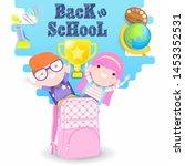 back to school vector... | Shutterstock .eps vector #1453352531