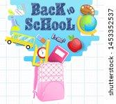 back to school vector... | Shutterstock .eps vector #1453352537
