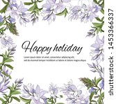 floral frame for text. set of... | Shutterstock .eps vector #1453366337