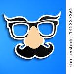 mustache glasses eyebrows | Shutterstock .eps vector #145337365