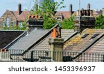 Typical English Chimneys On Th...