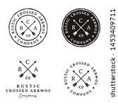 crossed arrows retro rustic... | Shutterstock .eps vector #1453409711