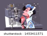 voice recording studio vector... | Shutterstock .eps vector #1453411571
