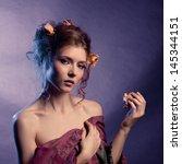 beauty girl.fashion art woman...   Shutterstock . vector #145344151