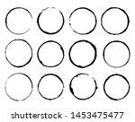 Vector Set Of Grunge Circle...