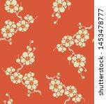 japanese plum blossom flower... | Shutterstock .eps vector #1453478777