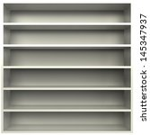 3d  an empty bookcase with...   Shutterstock . vector #145347937
