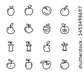 apple icons. set of different... | Shutterstock .eps vector #1453498697