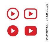 play vector icon set.... | Shutterstock .eps vector #1453506131