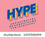 vector of stylized modern font... | Shutterstock .eps vector #1453506494