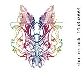 amazon symmetric emblem  tatto  ... | Shutterstock .eps vector #145353664
