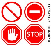 traffic stop vector icons set.... | Shutterstock .eps vector #1453543751
